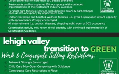 Statement from Senator Boscola on the Lehigh Valley Going Green